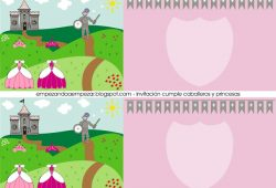 Imprimibles gratis: fiesta de cumpleaños princesas y caballeros.