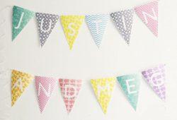Imprimibles gratis: Banderines con el abecedario para fiestas personalizadas.