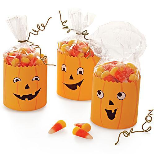 Como hacer una calabaza para halloween ideas para las bolsitas de los caramelos - Como hacer calabazas de halloween ...
