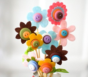 Un ramo de flores ésta vez de botones.