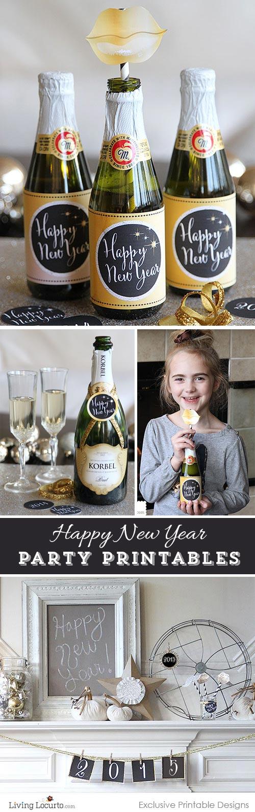 Imprimibles gratis para celebrar el Fin de Año.