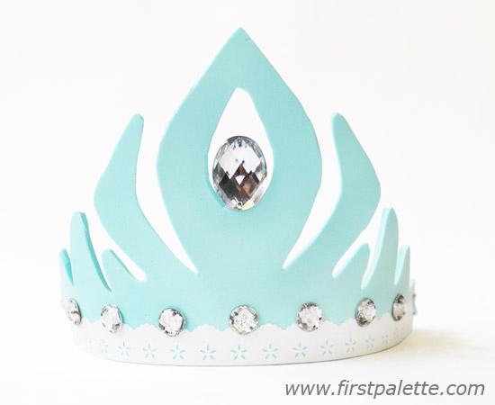 frozenprincessfoamcrown-blue