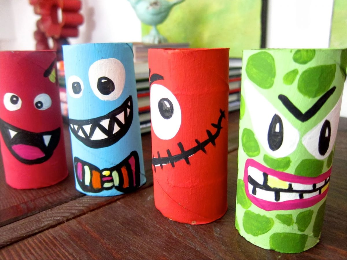 10 ideas para hacer manualidades infantiles con rollos de papel
