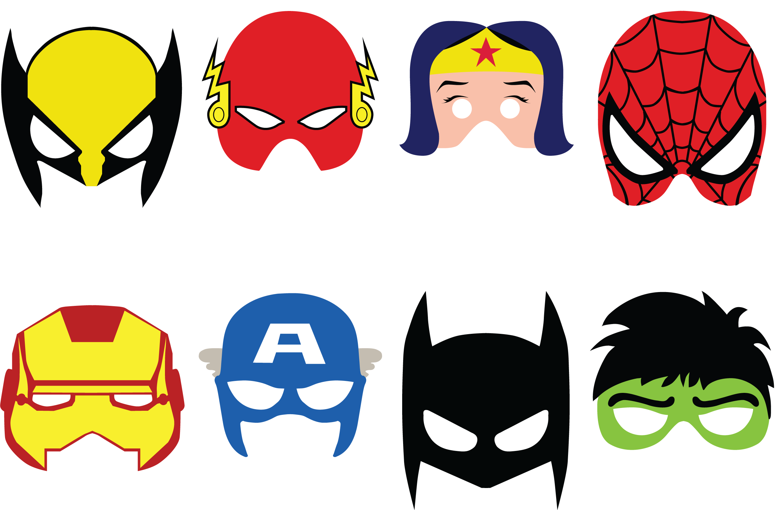 superheroes-caretas