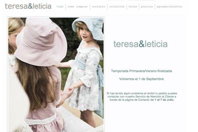 Marca de ropa infantil Teresa & Leticia