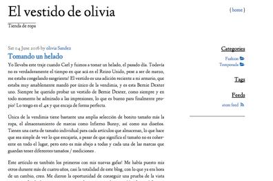 Marca Ropa Infantil - El vestido de Olivia