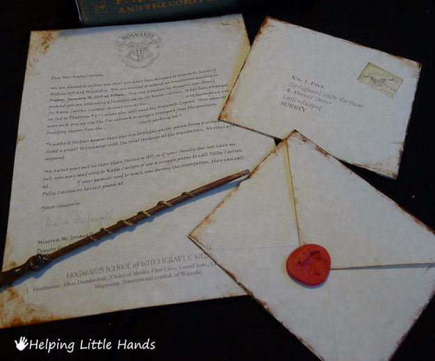 Invitaciones Harry Potter