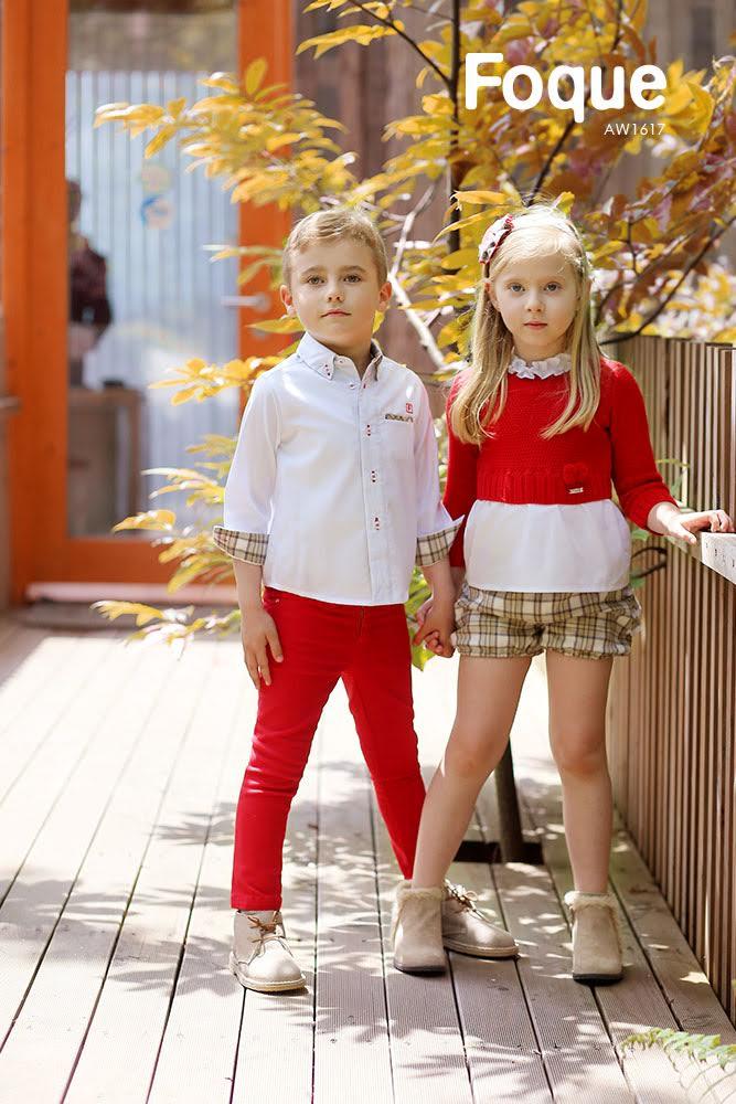 Conjunto infantil camisa y pantalón rojo