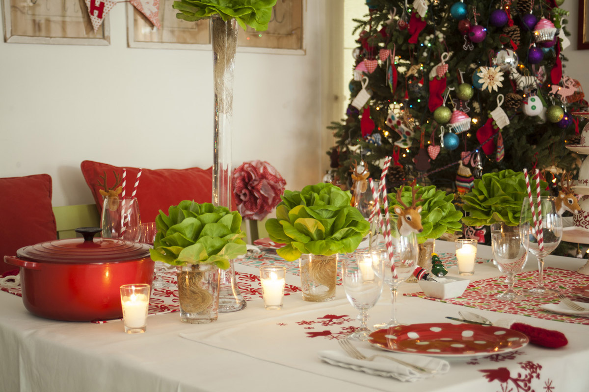 5 ideas incre bles para decorar de forma creativa la mesa - Decoracion navidad mesa ...
