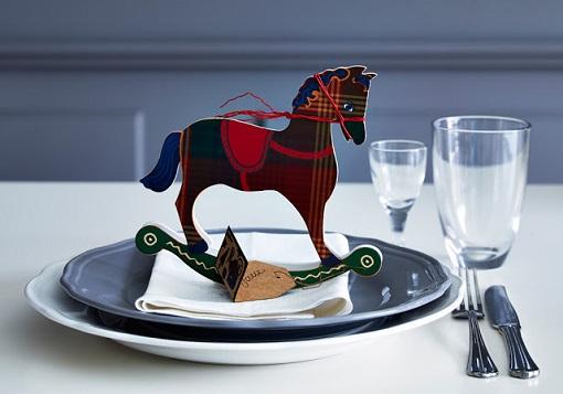 Complementos decoración mesa de Navidad