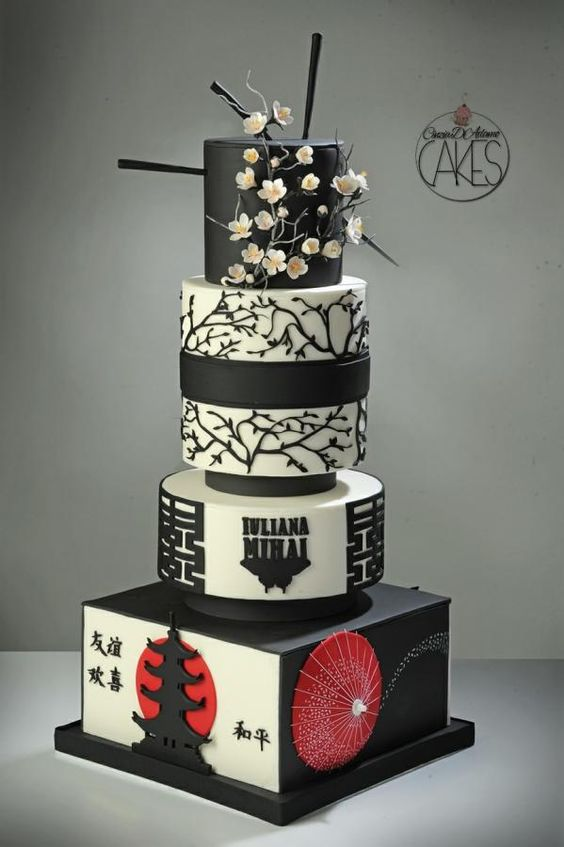 Japanese Themed Wedding Cake
