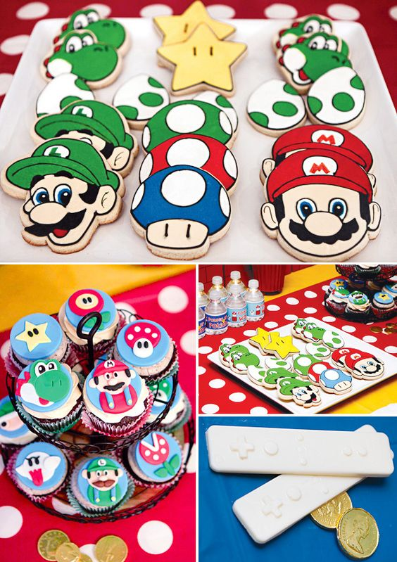 Comida fiesta infantil Mario Bros