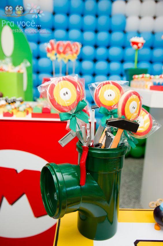 Decoración fiesta infantil con tuberías