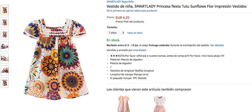 Ofertas vestidos niña