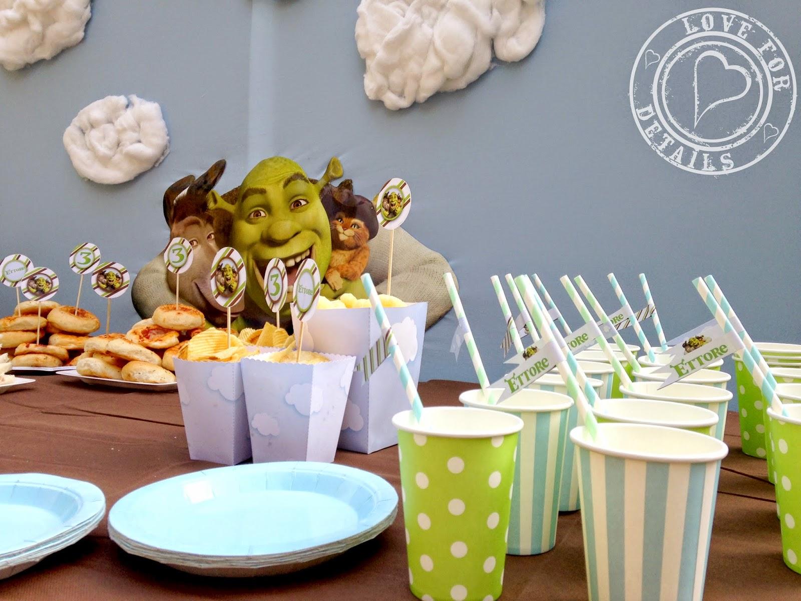 Ideas para decorar una fiesta de cumplea os al estilo shrek - Como decorar una mesa para una fiesta ...