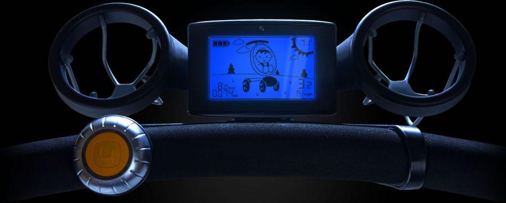 Pantalla LCD en carro de bebé