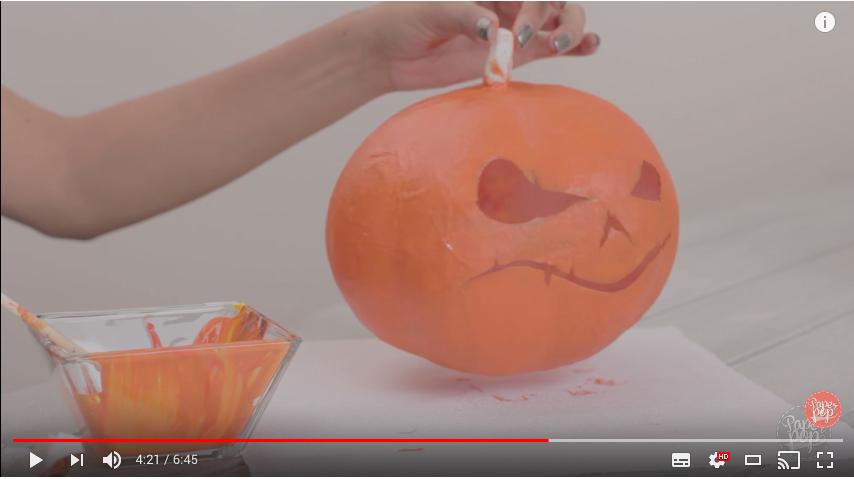 Pintar calabazas en halloween