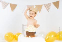 Cómo es una sesión de fotos de cake smash